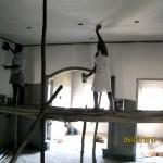 Putzarbeiten im Erdgeschoss